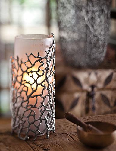 Donna Karan Lenox Abstract Coral Hurricane Vase