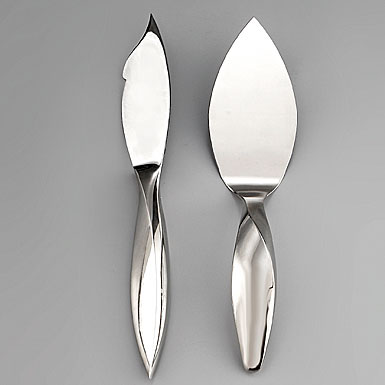 Nambe Flatware - Arrondi Cake Knife and Server