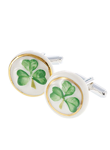 Belleek Shamrock Cufflinks