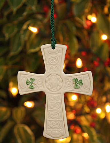 Belleek China Saint Patricks Cross 2017 Ornament