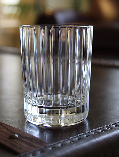the baccarat clear crystal harmonie tumbler has a marvelously linear silhouette that would be