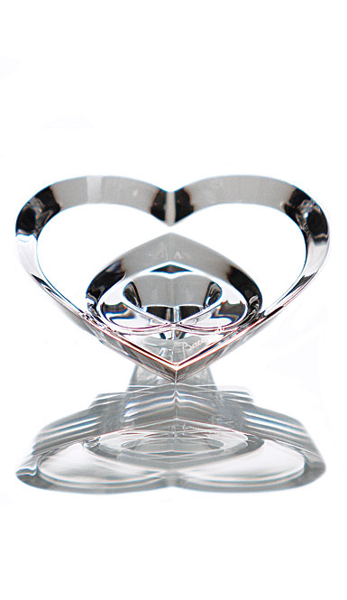 Baccarat Hearts of Love (Three Stacked Hearts), Clear