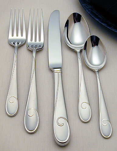Waterford Ballet Ribbon - Matte Flatware, 5-Piece Place Setting