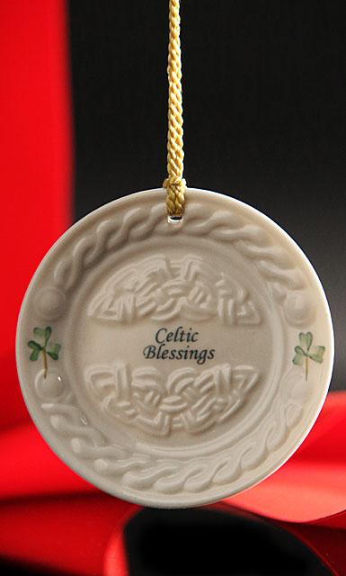 Belleek China 2017 Celtic Blessing Ornament