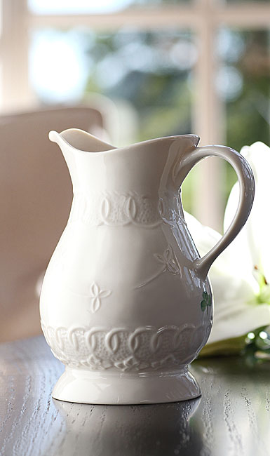 Belleek China Celtic Lace Pint Pitcher, 2014 Annual Edition Piece