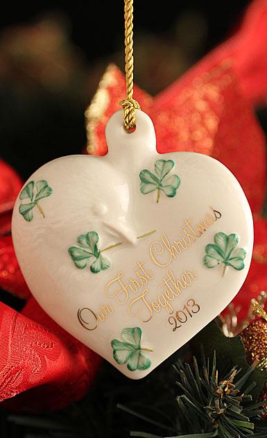 Belleek 2013 Our First Christmas Ornament