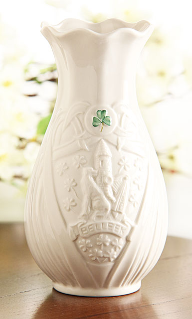 "Belleek China 2017 Trademark 7"" Vase, Limited Edition"