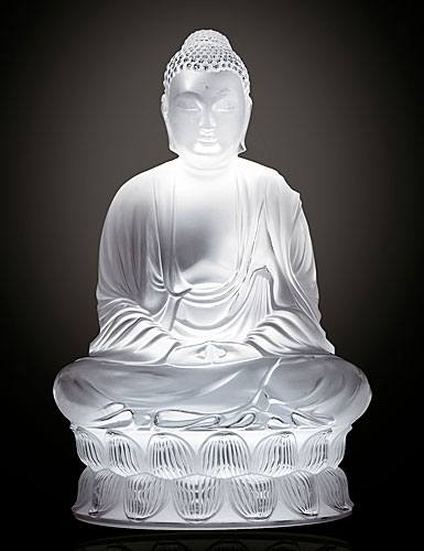 Lalique Buddha Ls Clear Figurine