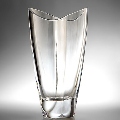 Nambe Crystal Butterfly Vase