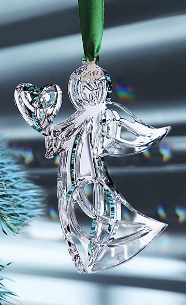 Cashs Crystal 2017 Angel with Heart Ornament