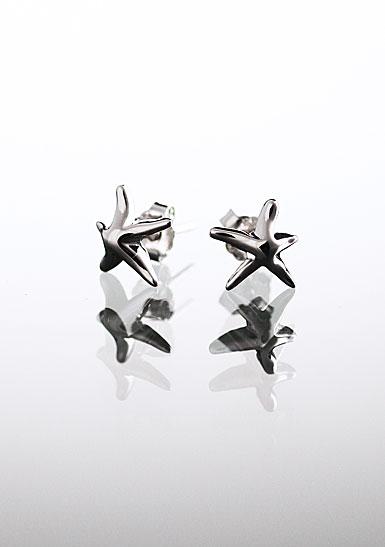 Cashs Sterling Silver Starfish Pierced Earrings Pair