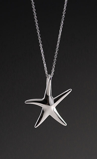 Cashs Sterling Silver Starfish Pendant Necklace