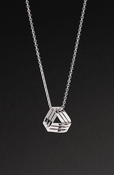 Cashs Sterling Silver Celtic Weave Pendant Necklace