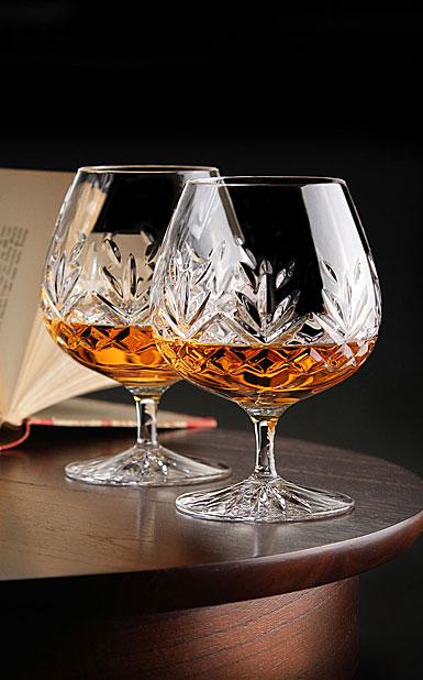 Cashs Crystal Annestown Large Brandy Glasses, 1+1 Free
