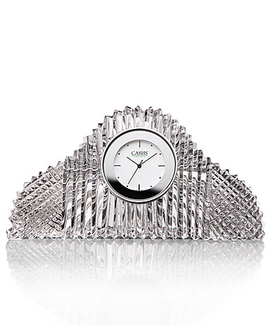 Cashs Crystal Georgian Mantle Clock
