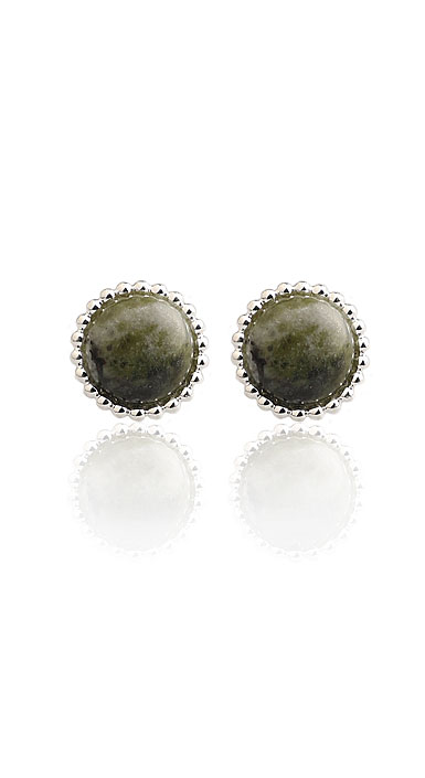 Cashs Connemara Marble Button Earrings, Pair