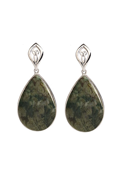 Cashs Connemara Marble Trinity Drop Earrings, Pair