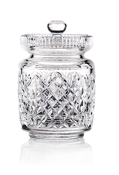 Cashs Crystal Art Collection, Cathedral Biscuit Barrel with Lid