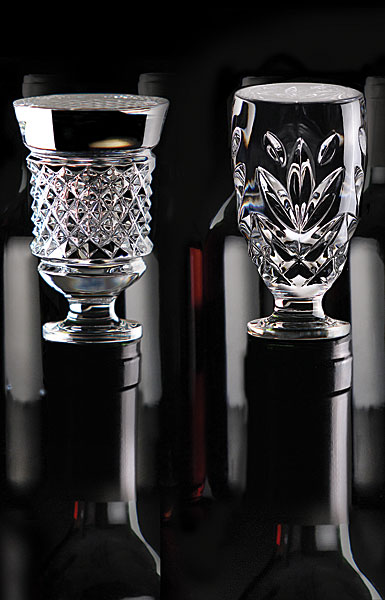 Cashs Crystal Wine Bottle Stoppers Set, Cooper and Annestown