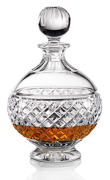 Cashs Crystal Cooper Round Decanter with Stopper