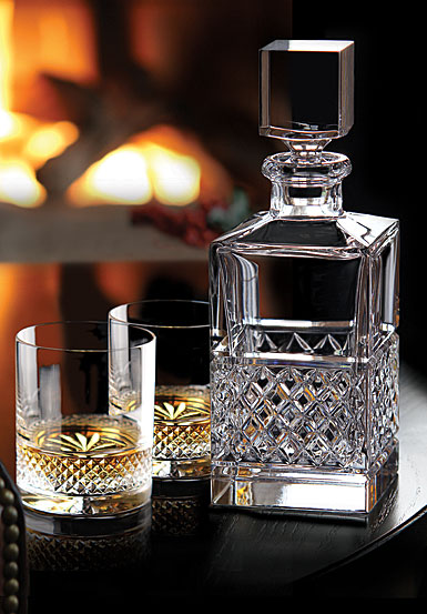 Cashs Crystal Cooper Single Malt Whiskey Tasting Set, Decanter, Pair of Whiskey Glasses