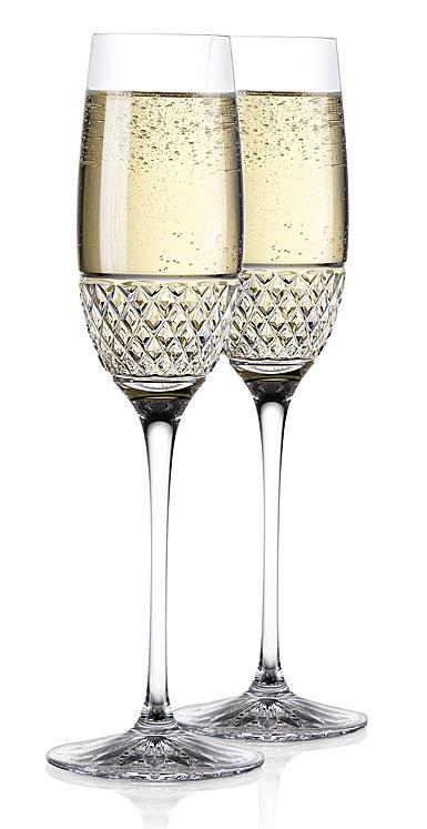 Cashs Crystal Cooper Celebration Toasting Flutes, Pair