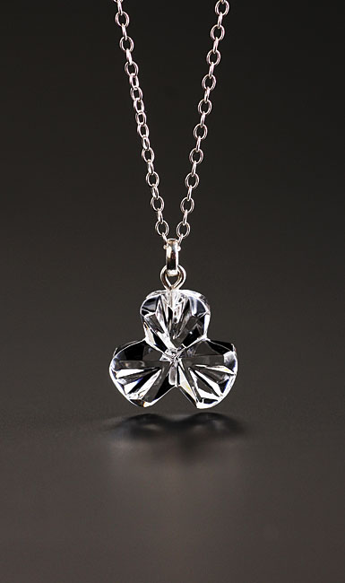 Cashs Crystal Shamrock Pendant Necklace