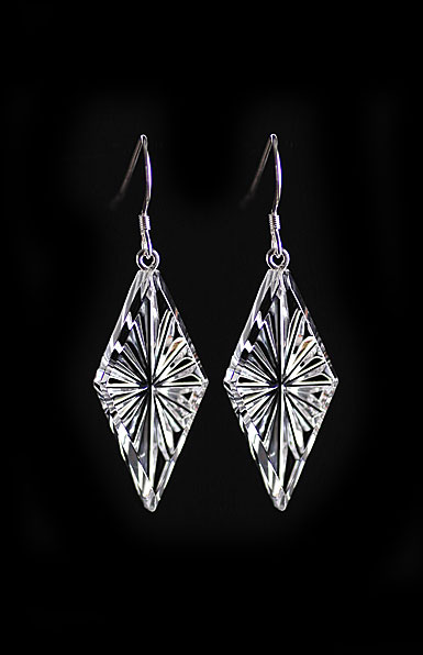 Cashs Crystal Diamond Newgrange Drop Earrings, French Hook, Pair
