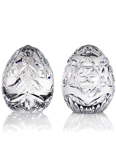 Cashs Crystal Christmas Egg Set