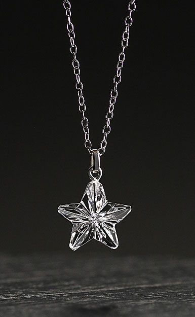 Cashs Crystal Forget Me Not Star Pendant Necklace