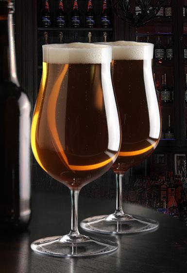 Cashs Crystal Grand Cru Footed Craft Beer Glasses, Pair