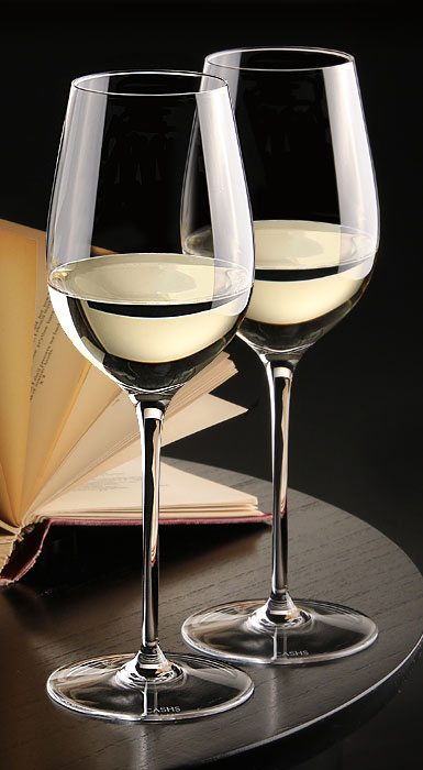 Cashs Crystal Grand Cru White Wine Glasses, Pair