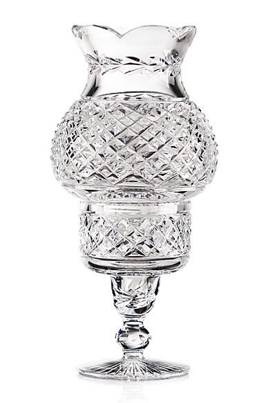 Cashs Crystal Art Collection Hurricane Candleholder, Single