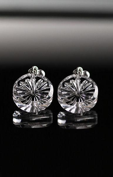 Cashs Crystal Newgrange Pierced Earrings, Pair