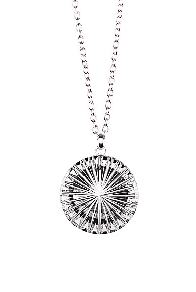 Cashs Crystal Newgrange Circle Pendant Necklace, Medium