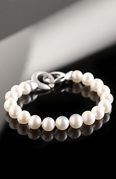 Cashs White Luster Pearl Bracelet, Sterling Silver