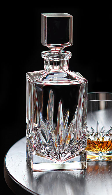 Cashs Crystal Shannon Single Malt Whiskey Square Decanter