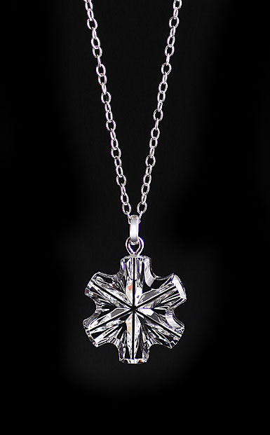 Cashs Crystal Snowflake Pendant Necklace, Small