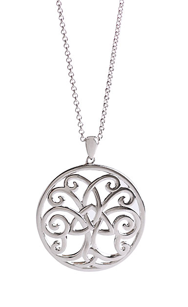 Cashs Sterling Silver Tree of Life with Trinity Knot Pendant Necklace
