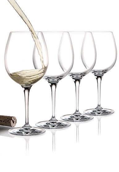 Cashs Crystal Wine Cru Chardonnay Glasses, Set of 4