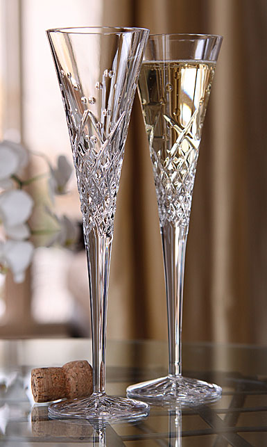 Waterford Wishes Happy Celebrations Flute, Pair