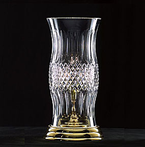 Waterford Colleen 13 5 Quot Hurricane Lamp Polished Brass