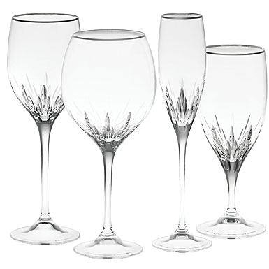 Vera wang duchesse platinum 14 oz wine - Wedgwood crystal wine glasses ...