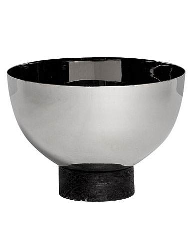 "Vera Wang Wedgwood Vera Elements Stainless Serveware, Nut Bowl 6""."