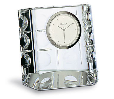 Baccarat Equinoxe Clock, 3in