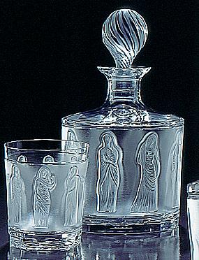 "Lalique Femmes Antiques Whiskey Tumbler - 4"""