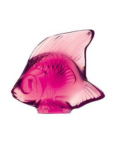 Lalique Fuchsia Fish