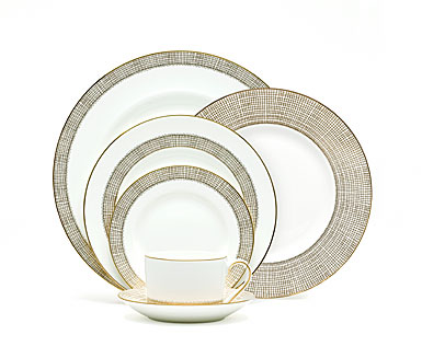 Vera Wang Wedgwood China Gilded Weave 5-Piece Place Setting