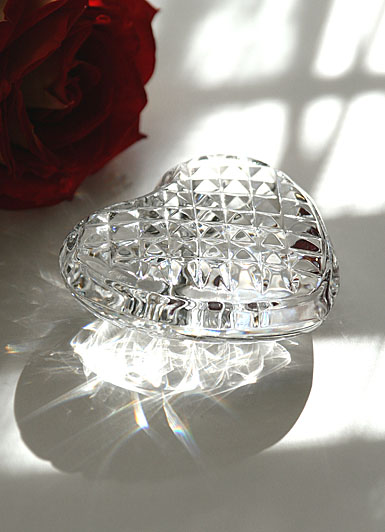 Waterford Heart Hand Cooler Paperweight