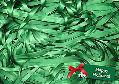 Premium Greeting Card, Holiday Ribbons